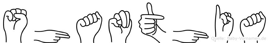 Shanthia in Fingersprache für Gehörlose
