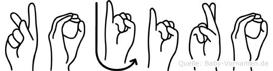 Kojiro in Fingersprache für Gehörlose