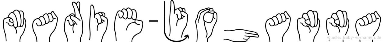 Marie-Johanna im Fingeralphabet der Deutschen Gebärdensprache