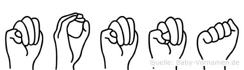 Momna im Fingeralphabet der Deutschen Gebärdensprache