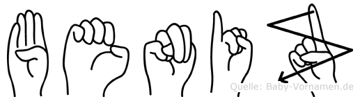 Beniz im Fingeralphabet der Deutschen Gebärdensprache