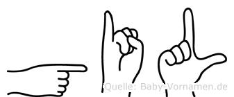 Gil im Fingeralphabet der Deutschen Gebärdensprache