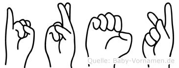 Irek in Fingersprache für Gehörlose