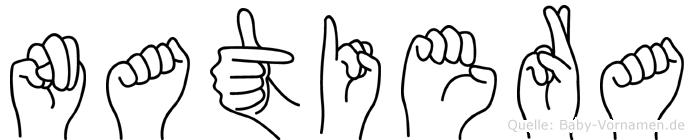 Natiera in Fingersprache für Gehörlose