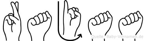 Rajaa in Fingersprache für Gehörlose
