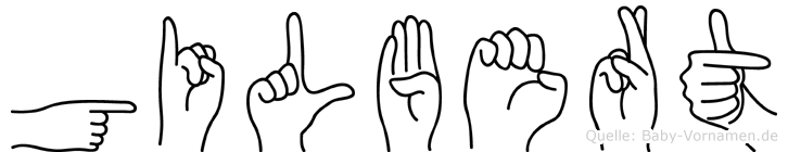 Gilbert im Fingeralphabet der Deutschen Gebärdensprache