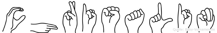 Chrisalin in Fingersprache für Gehörlose