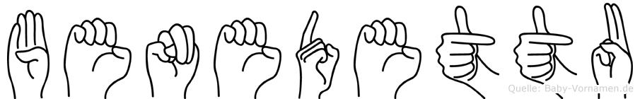 Benedettu im Fingeralphabet der Deutschen Gebärdensprache