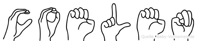 Coelen im Fingeralphabet der Deutschen Gebärdensprache