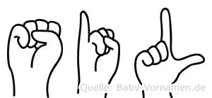 Sil in Fingersprache für Gehörlose