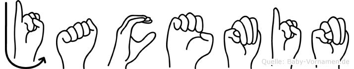 Jacemin im Fingeralphabet der Deutschen Gebärdensprache
