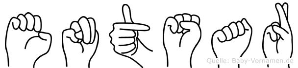 Entsar im Fingeralphabet der Deutschen Gebärdensprache