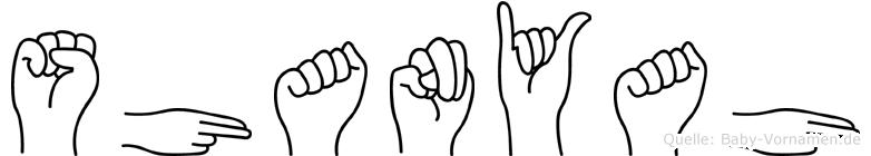 Shanyah in Fingersprache für Gehörlose