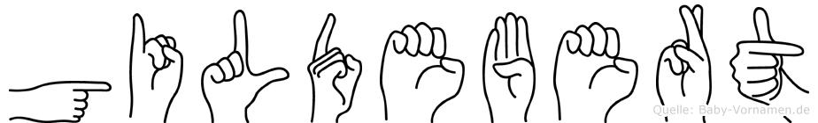 Gildebert in Fingersprache für Gehörlose