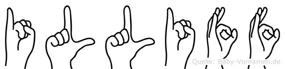 Illiff im Fingeralphabet der Deutschen Gebärdensprache
