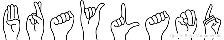 Brayland in Fingersprache für Gehörlose