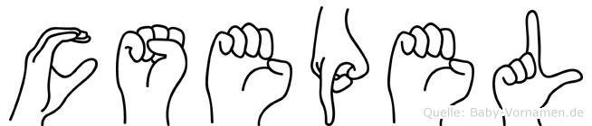 Csepel in Fingersprache für Gehörlose