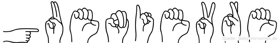 Guenievre in Fingersprache für Gehörlose