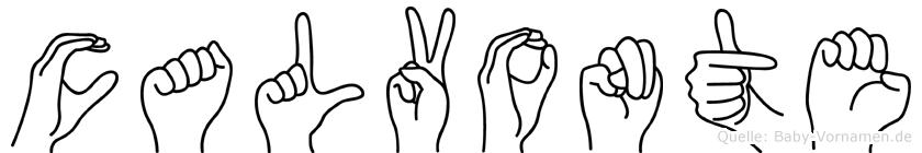 Calvonte im Fingeralphabet der Deutschen Gebärdensprache