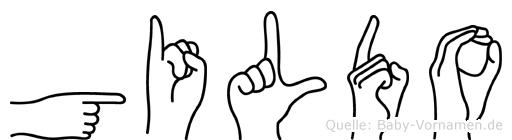 Gildo in Fingersprache für Gehörlose