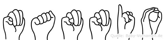 Mannio im Fingeralphabet der Deutschen Gebärdensprache