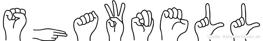 Shawnell im Fingeralphabet der Deutschen Gebärdensprache
