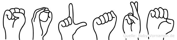 Solare im Fingeralphabet der Deutschen Gebärdensprache