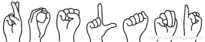 Roslani in Fingersprache für Gehörlose