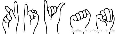 Kiyan in Fingersprache für Gehörlose