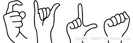 Xyla in Fingersprache für Gehörlose