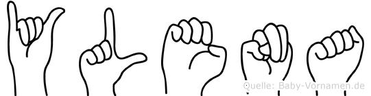 Ylena in Fingersprache für Gehörlose