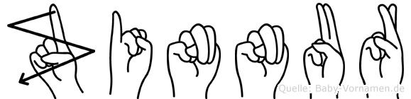 Zinnur im Fingeralphabet der Deutschen Gebärdensprache