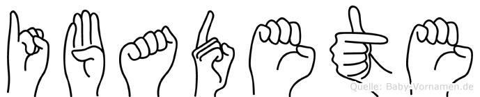 Ibadete im Fingeralphabet der Deutschen Gebärdensprache