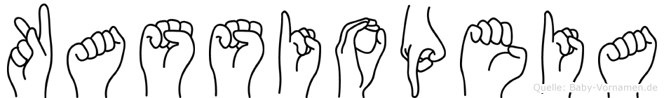 Kassiopeia im Fingeralphabet der Deutschen Gebärdensprache