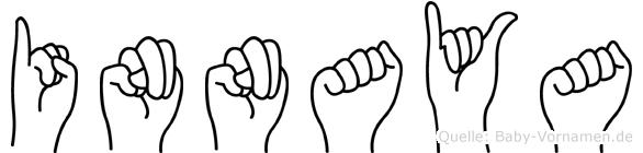 Innaya im Fingeralphabet der Deutschen Gebärdensprache