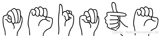 Meinte in Fingersprache für Gehörlose