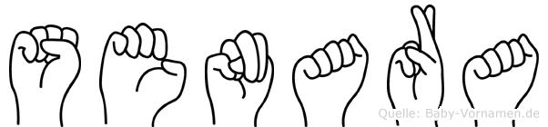 Senara im Fingeralphabet der Deutschen Gebärdensprache