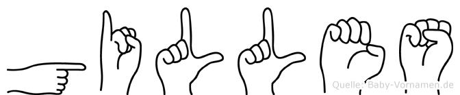 Gilles in Fingersprache für Gehörlose