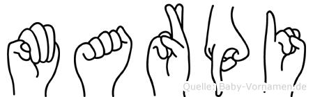 Marpi in Fingersprache für Gehörlose