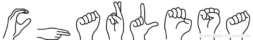 Charlesa im Fingeralphabet der Deutschen Gebärdensprache