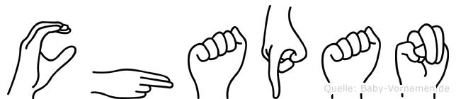 Chapan im Fingeralphabet der Deutschen Gebärdensprache