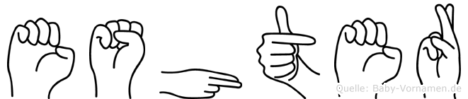 Eshter im Fingeralphabet der Deutschen Gebärdensprache