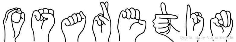 Osaretin im Fingeralphabet der Deutschen Gebärdensprache