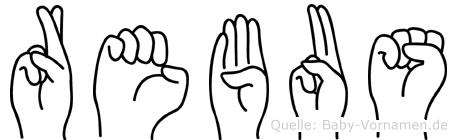 Rebus im Fingeralphabet der Deutschen Gebärdensprache
