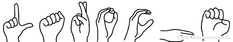 Laroche im Fingeralphabet der Deutschen Gebärdensprache