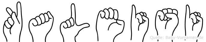 Kaleisi in Fingersprache für Gehörlose