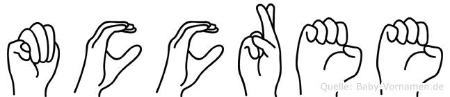 Mccree im Fingeralphabet der Deutschen Gebärdensprache