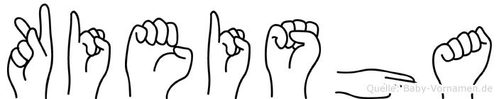 Kieisha im Fingeralphabet der Deutschen Gebärdensprache