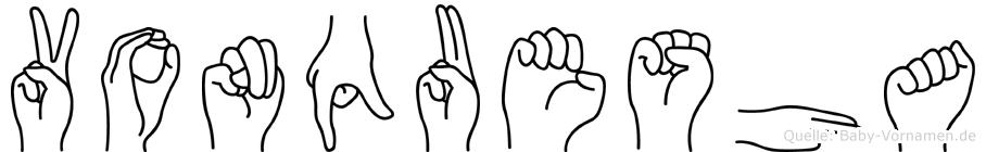 Vonquesha in Fingersprache für Gehörlose