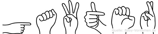 Gawter in Fingersprache für Gehörlose